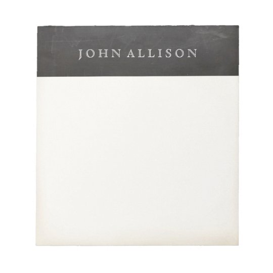 Cool Guy's Aged Vintage Notepad