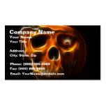 Cool Halloween Death Pumpkin Pack Of Standard Business Cards