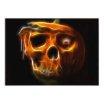 Cool Halloween Death Pumpkin Personalised Invite