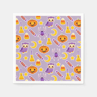 Cool Halloween Purple Pattern Design Paper Napkin