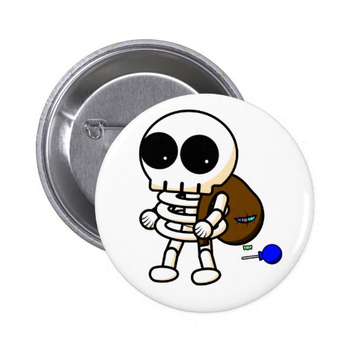 Cool Halloween Skeleton Button