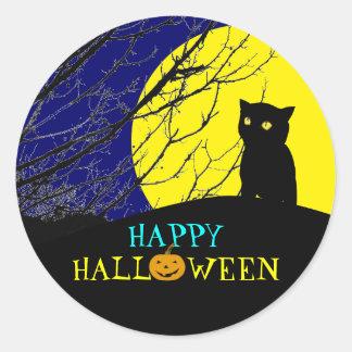 Cool Halloween Sticker: Black Cat