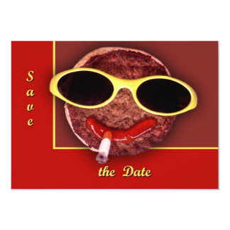 Cool Hamburger 13 Cm X 18 Cm Invitation Card