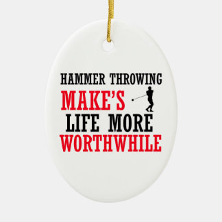 cool hammer Throwing design Christmas Ornament