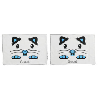 Cool Hamster mouse blue pillowcase