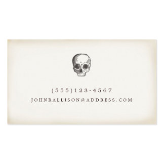 Cool Hand Drawn Rustic Skull Calling Card Pack Of Standard Business Cards
