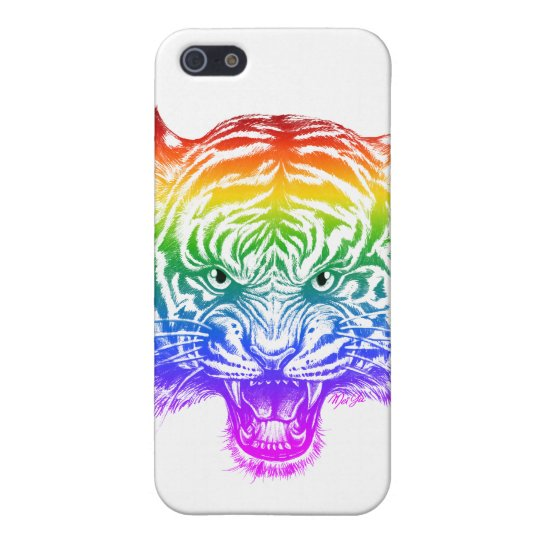 Cool Hand Drawn Tiger iPhone SE + iPhone