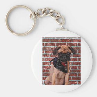 Cool Hand Pug Basic Round Button Key Ring