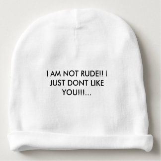 COOL HAT WITH AN ATTITUDE QUOTE!!! BABY BEANIE