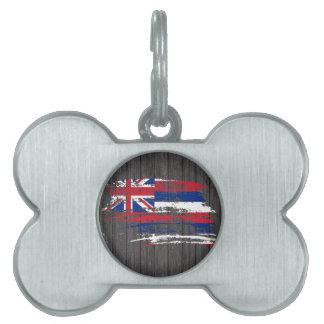 Cool Hawaiian flag design Pet Name Tag