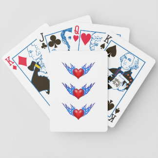 Cool Heart n Blue Flame Playing Cards Bicycle Card Decks