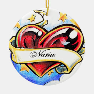 Cool Heart tattoo ornament