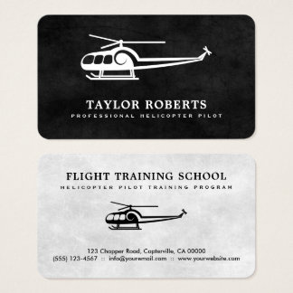 Cool Helicopter Pilot Trainer Flight Instructor Business Card