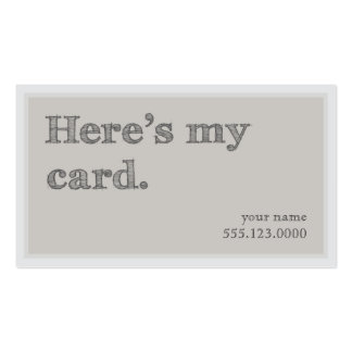 """Cool """"Here's My Card"""" Networking Groupon Business Card Template"""