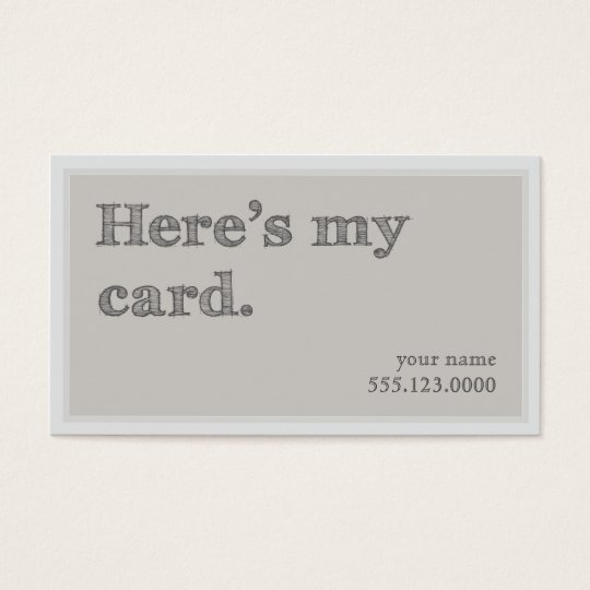 "Cool ""Here's My Card"" Networking Groupon Business"