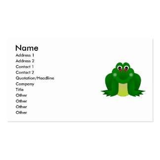 Cool Hippie Frog Business Card Templates