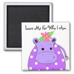 Cool Hippo Refrigerator Magnet