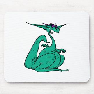 Cool Hippy Dragon Mousepads
