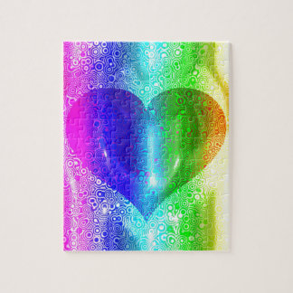 Cool Hippy Heart Design Puzzle