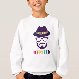 Cool Hipster colourful hat glasses Sweatshirt