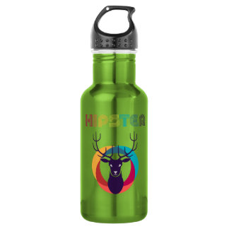 cool hipster deer colourful effects 532 ml water bottle