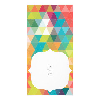 Cool Hipster Pattern Customised Photo Card
