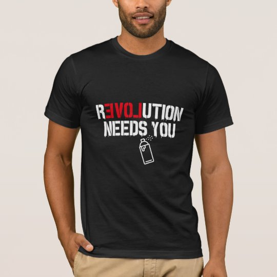 Cool hipster revolution graphic and type T-Shirt