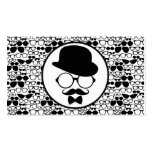 Cool Hipster Surrounded by Eyeglasses Pack Of Standard Business Cards