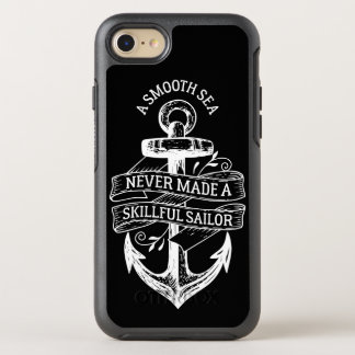 Cool Hipster Vintage Nautical Modern Life Quote OtterBox Symmetry iPhone 8/7 Case