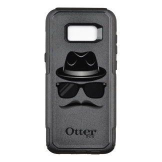 Cool Hipster with mustache, hat and sunglasses OtterBox Commuter Samsung Galaxy S8+ Case