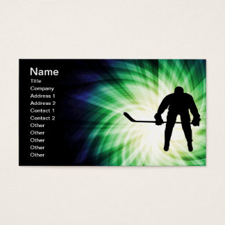 Cool Hockey Player Business Card