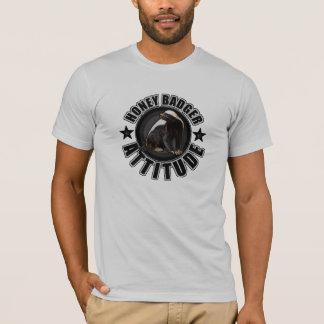 Cool Honey Badger Attitude Round Design T-Shirt