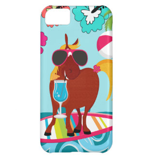 Cool Horse Surfer Dude Summer Fun Beach Party iPhone 5C Case