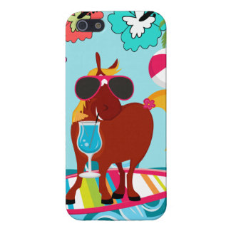 Cool Horse Surfer Dude Summer Fun Beach Party iPhone 5 Case