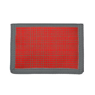 Cool Hot Red Unique Pattern Tri-fold Wallets