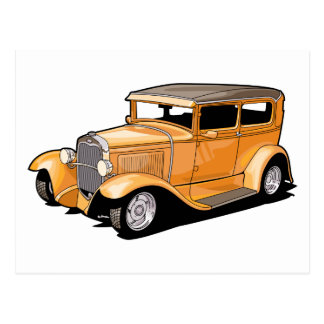 Cool Hot Rod Coupe Postcard