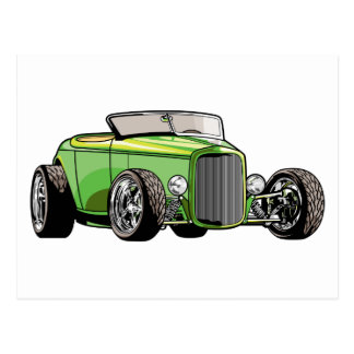 Cool Hot Rod Roadster Postcard