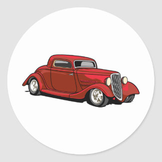 Cool Hot Rod Round Sticker
