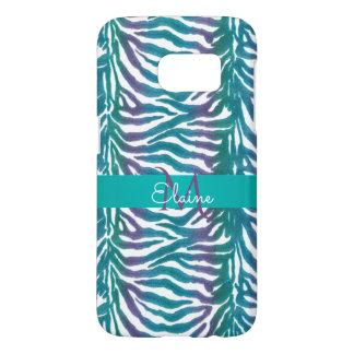 Cool Hued Zebra Striped Personalized Animal Print