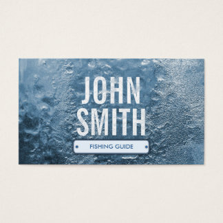 Cool Ice Age Fishing Guide Business Card