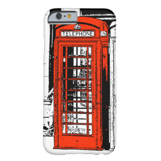 Cool Illustration Red London Phone Box Barely There iPhone 6 Case