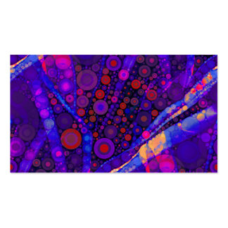 Cool Indigo Concentric Circles Abstract Mosaic Pack Of Standard Business Cards