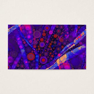 Cool Indigo Concentric Circles Abstract Mosaic Business Card