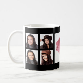Cool Instagram Photo Collage with Feature Pic Basic White Mug