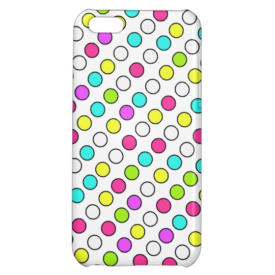 Cool iPhone 5 Cases for Girls Neon Polka