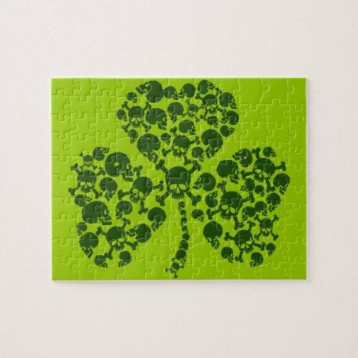 Cool Irish Shamrock of Skulls Puzzle
