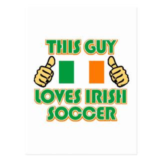 cool Irish soccer fan DESIGNS Postcard
