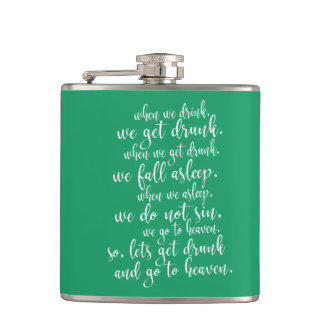 Cool Irish Toast St. Patrick's Day Green & White Hip Flask