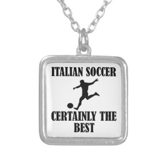 cool Italian soccer designs Personalized Necklace