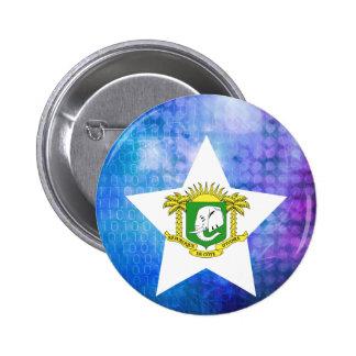 Cool Ivory Coast Flag Star 6 Cm Round Badge